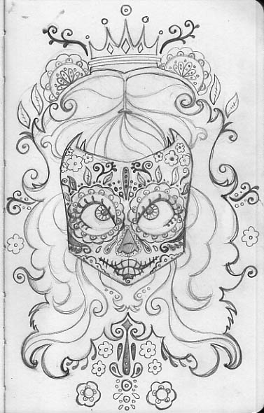 Free Coloring Pages Of Sugar Skull