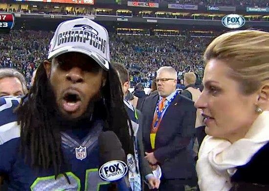 richard sherman post game nfc championship erin andrews michael crabtree