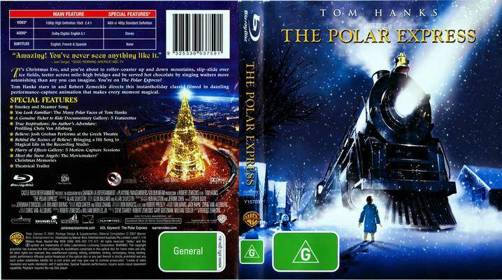 DVD cover Polar Express 2004 animatedfilmreviews.blogspot.com