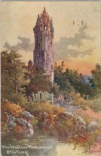 vintage postcard of scotland