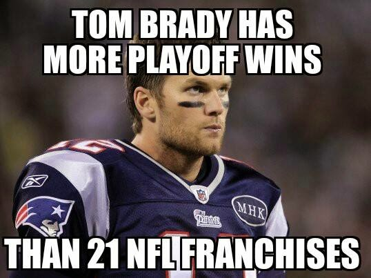 Tom Brady has more playoff wins than 21 nfl franchises