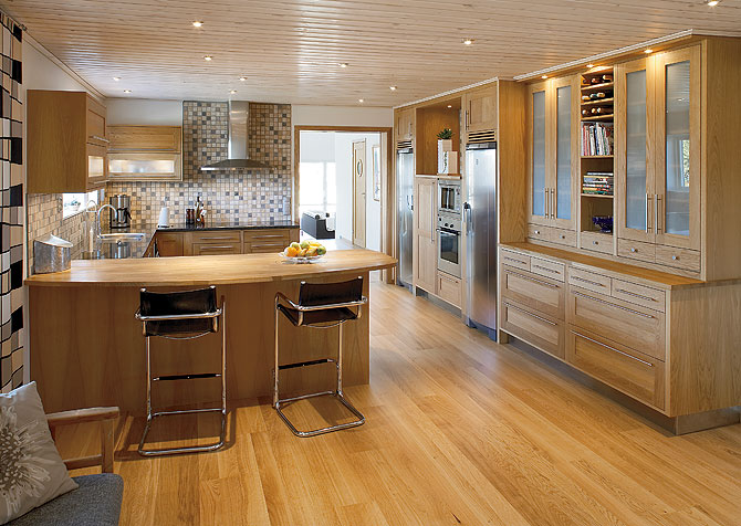 Bar En Bois Design : Kitchen with Bar Design Ideas