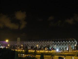El Umbracle at night photo - Valencia - Spain