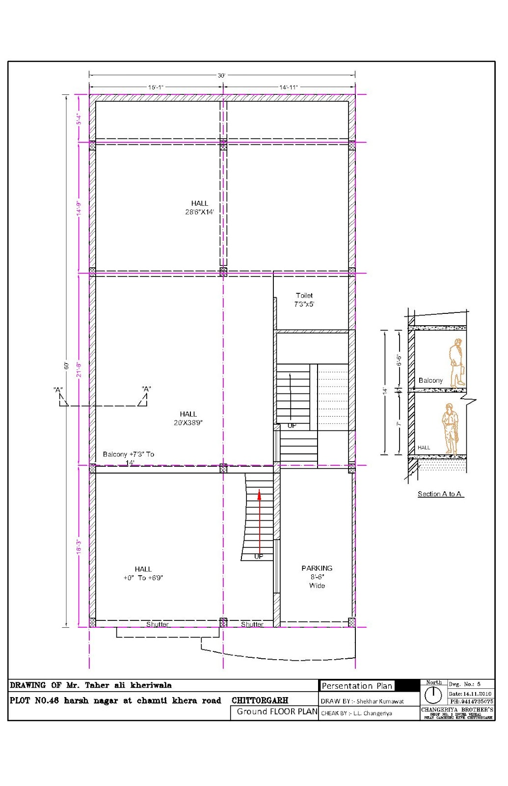 Saifee Villa 30x60 Mr. Taher ali kheriwala | 3D Naksha: blog.indianarchitect.info/2012/12/Taher.ali.kheriwala.html