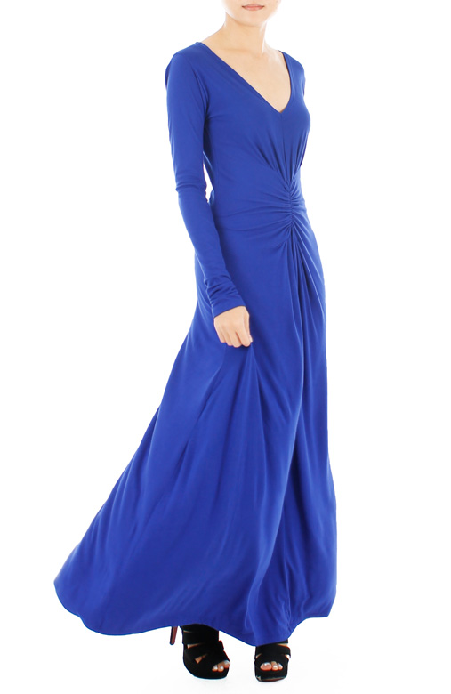Sophistique Long Sleeve Maxi Dress – Ultramarine