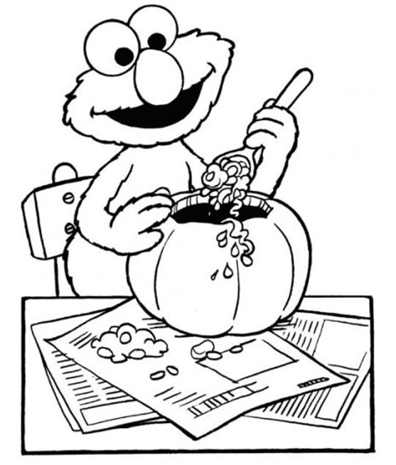 elmo halloween coloring pages - photo#5