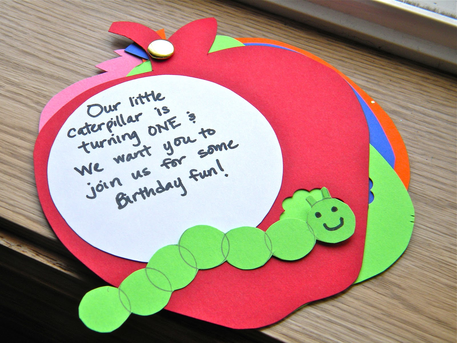 The Pretty Kitty Studio My Own DIY Invites and Party Decor for – Hungry Caterpillar Birthday Card