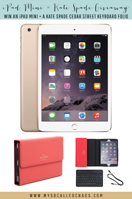 iPad Mini + Kate Spade Keyboard Folio #Giveaway!
