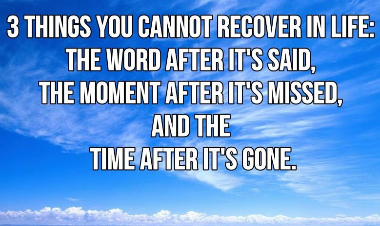 Sydesjokes 3 things you can t recover in life