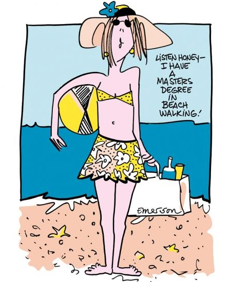 beach humor by Emerson cartoon