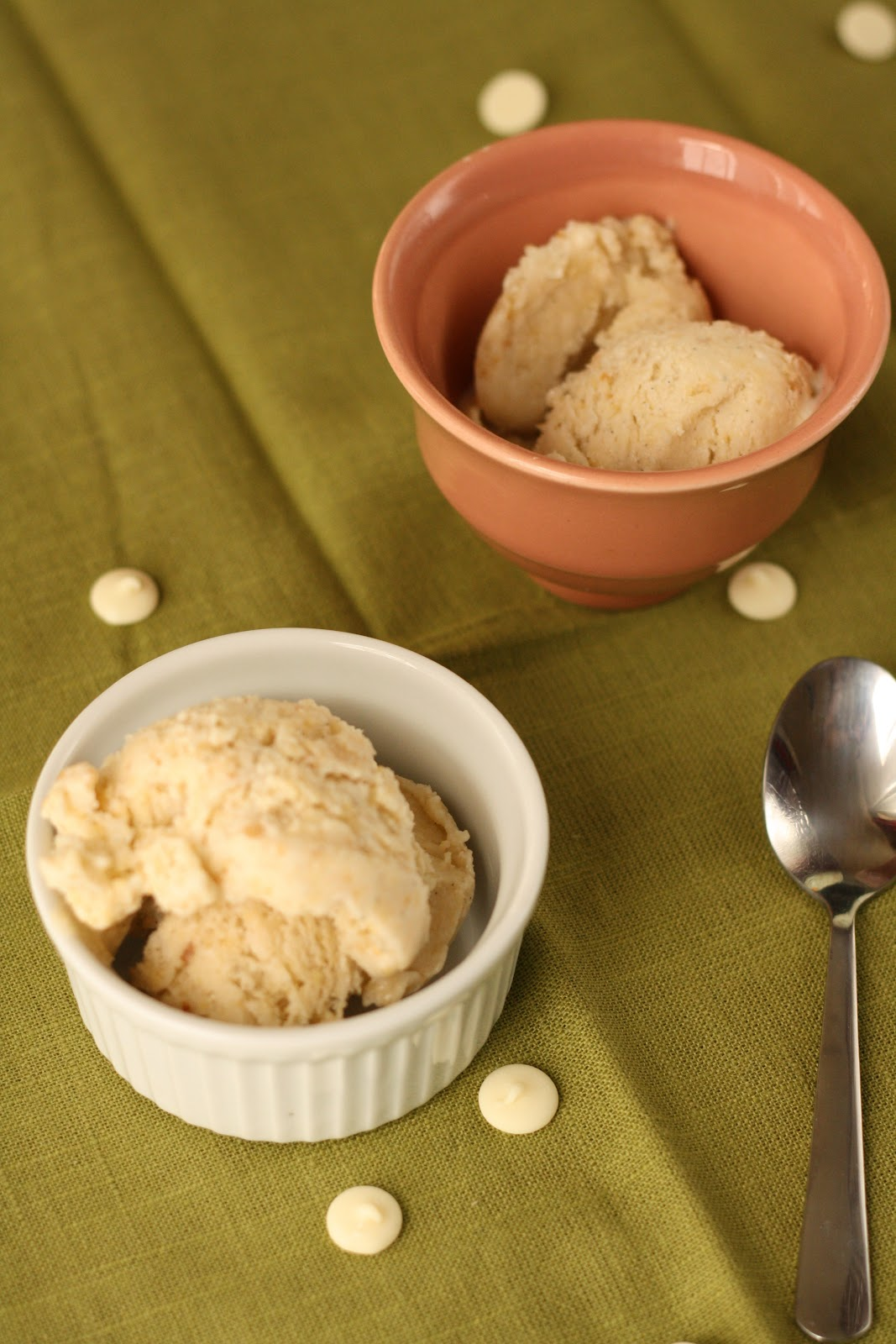 ... , Oregon: Banana Ice Cream with Caramelized White Chocolate Freckles