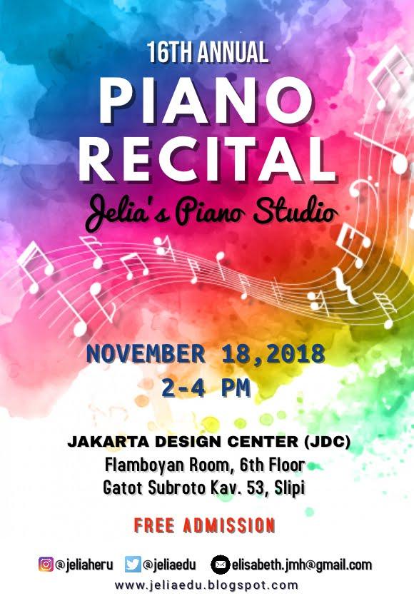 Piano Recital at JDC