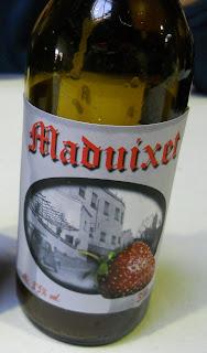 cerveza artesanal sabor a fresas el maduixet