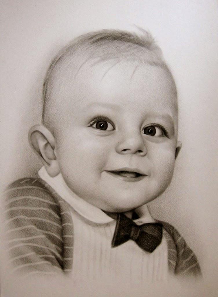 rostros-de-bebes-hechos-con-lapiz