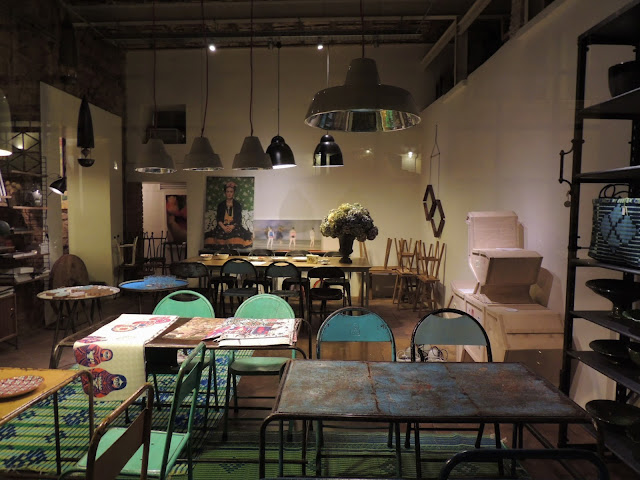 Shabby chic furniture in Rome homeware store