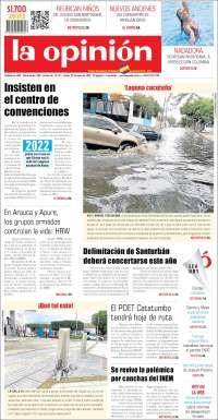 23/01/2020  PRIMERA PAGINA DE LA OPINIÓN DE COLOMBIA