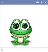 Animated frog emoticon