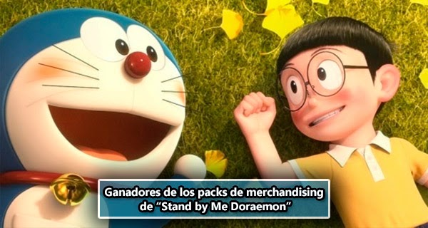 Ganadores de los 2 Packs 'Stand By Me Doraemon' que sorteabamos.
