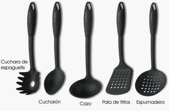 Vocabulario en im genes maestra de infantil y primaria for Cucharones de cocina