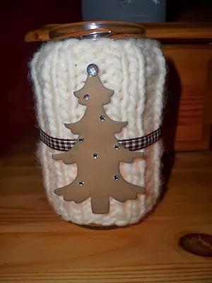 Drachenkiste umstrickte gl ser f r basar - Glaser dekorieren fur weihnachten ...