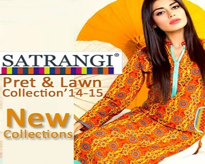 Latest Summer Collection of Satrangi Pret 2014