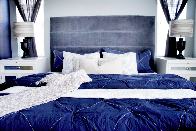 Cole Barnett Navy Blue And Gray Master Bedroom Remodel
