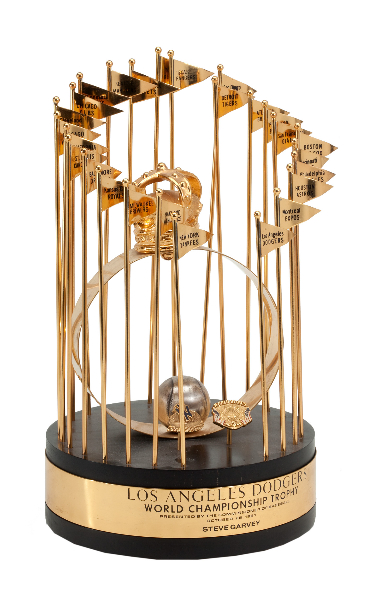 1981 World Series Player Trophy 1974 National League Gold Glove Award Historic 1984 NLCS Game 4 Walk Off Home Run Bat Inscribed By Garvey Voted Greatest