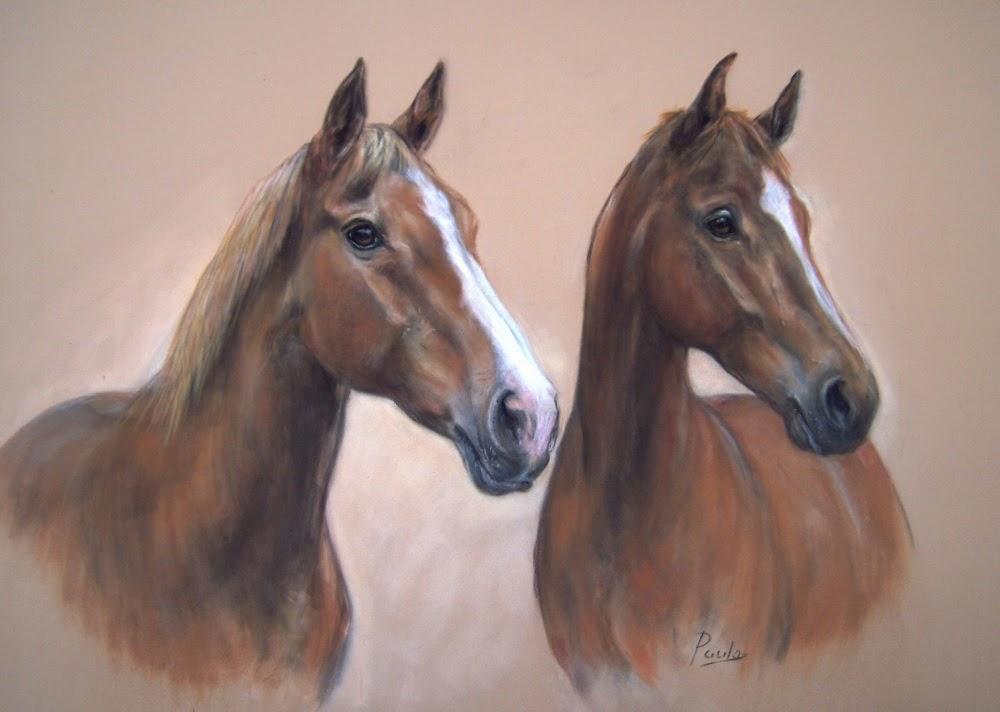 paarden portret, paarden schilderij, paarden schilder, pastel schilderij, paardenportret in opdracht, horse painting, horse painter, pferdemaler,