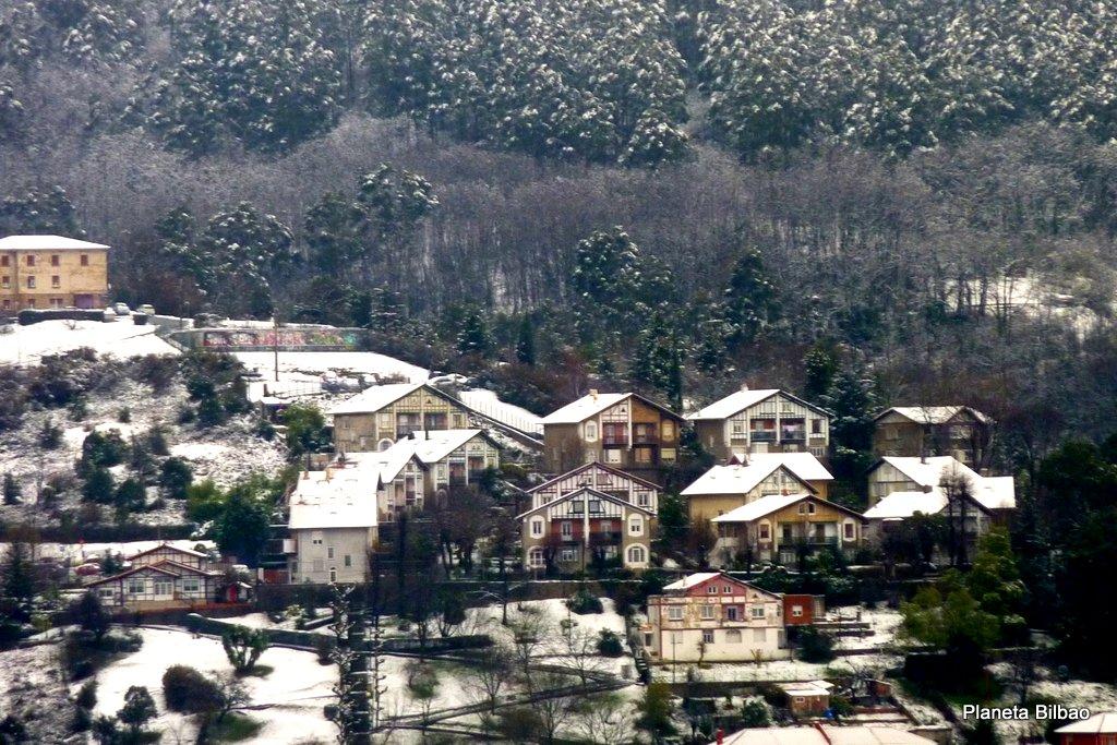 Paisaje urbano,nieve,Buenavista