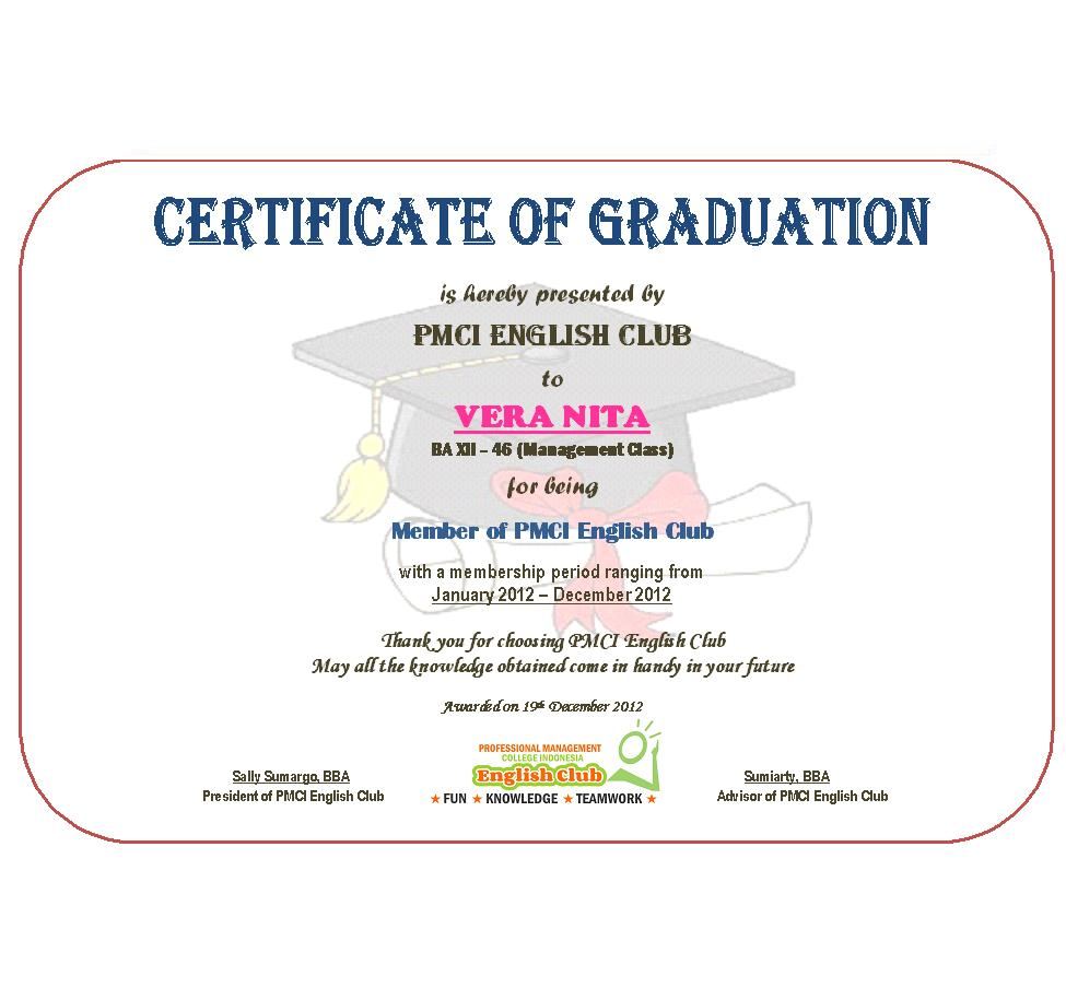 pmci english club  official certificates for members of pmci english club