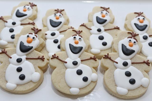 Frozen Olaf cookies