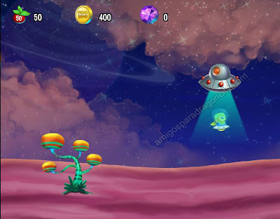 foto de la escena final del mini juego space trip de dragon city