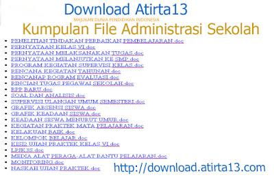 [Download] Kumpulan file Administrasi lengkap 2015-2016