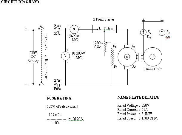 Load test on dc shunt motor computer programming load test on dc shunt motor sciox Images
