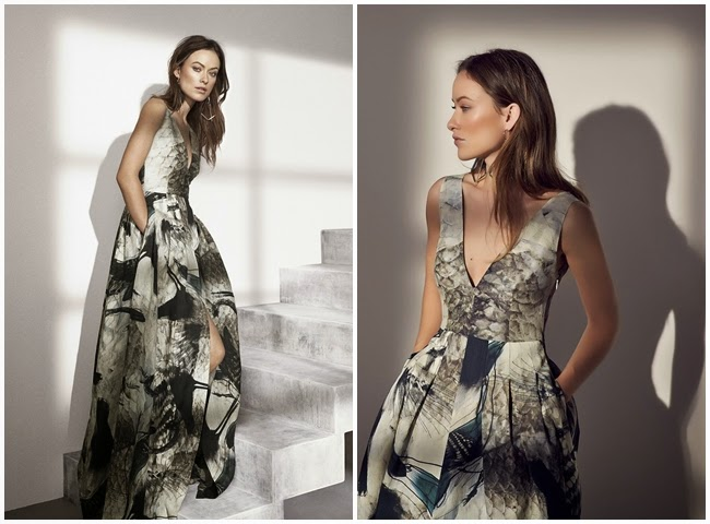H&M Conscious 2015 Bird Print Maxi Dress
