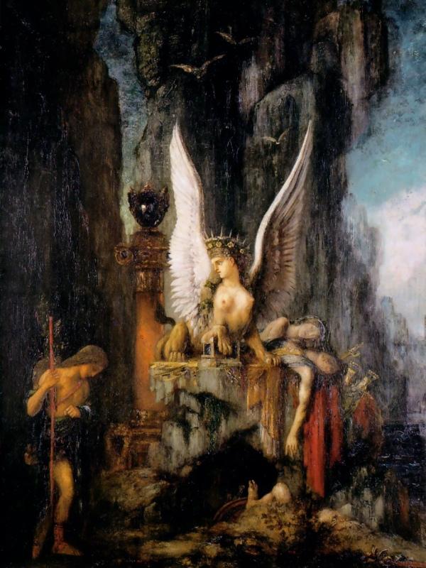 sphinx oedipus gustave moreau