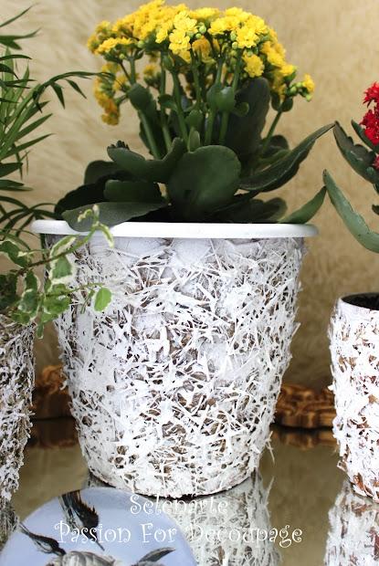 Decorating Plastic Flower Pots