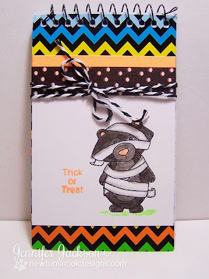 Neon Halloween Notebooks using Boo Crew by Newton's Nook Designs