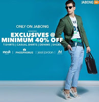 Jabong: Get minimum 40% off on your favorite menswear brands :buytoearn