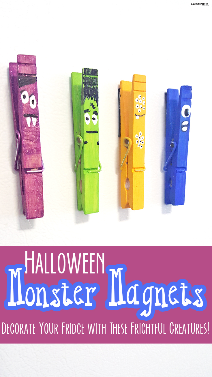 Keep things cute (and a little creepy) around Halloween this year with these adorable monster magnets! These perfect little creatures are an easy DIY project...