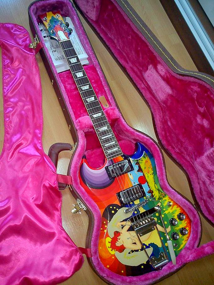 The Guitar Column The Fool Sg The Painted Player