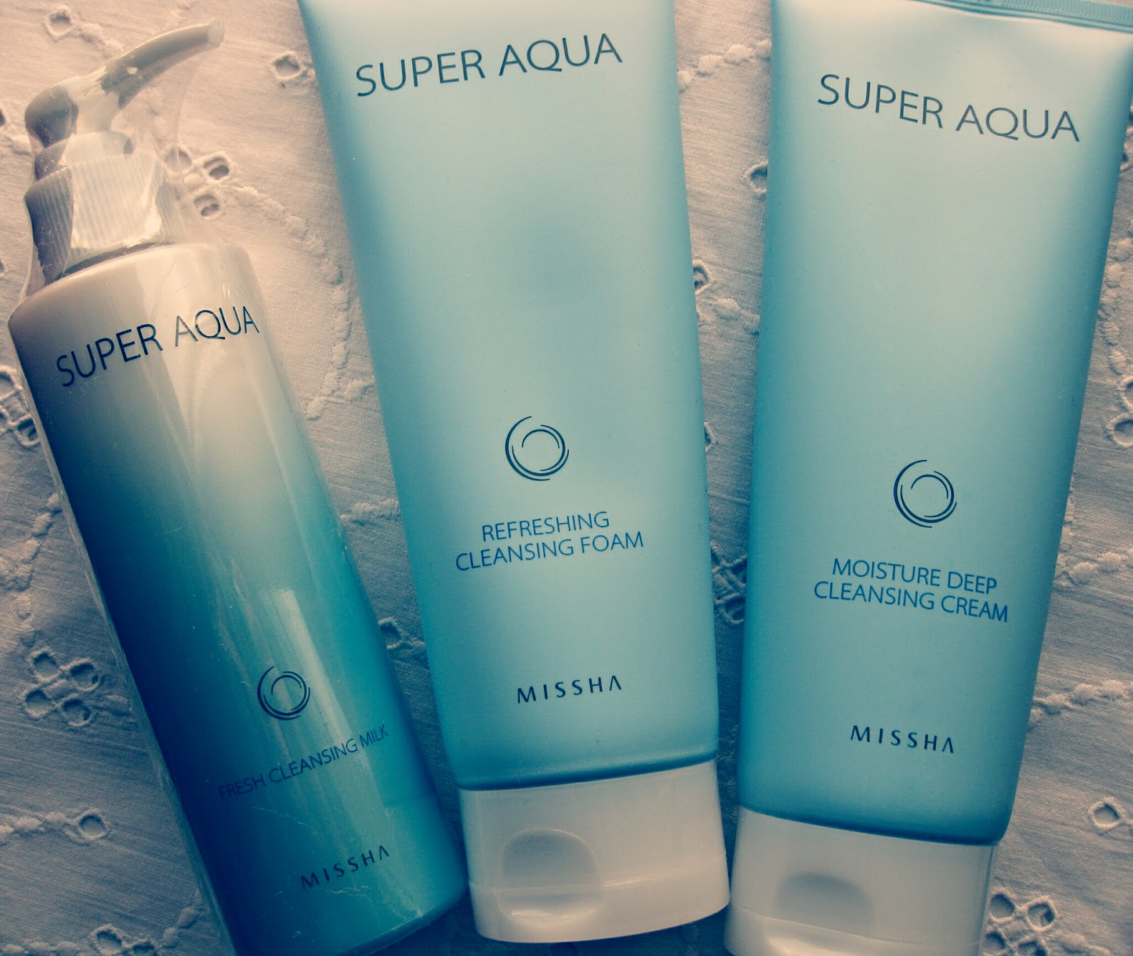 Gmarket haul MISSHA skincare makeup , Super aqua refreshing cleansing foam , Super Aqua Moisture Deep Cleansing Cream
