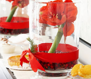 Christmas Centerpieces with Flowers, Part 2