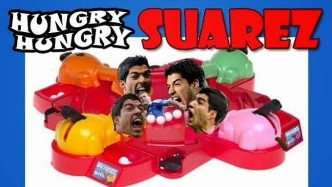 KLuis Suarez, funny, bite, World Cup 2014, Hungry Hungry Suarez