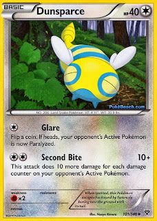 Dunsparce Pokemon X and Y Card