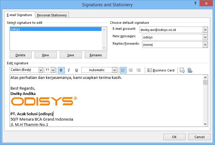 Cara Membuat Signature Pada Microsoft Outlook 2013 | IT
