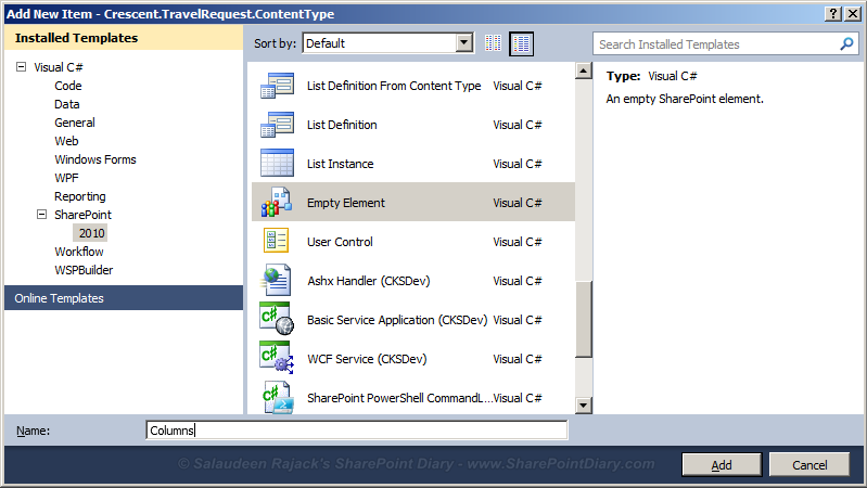 sharepoint 2010 content type deploy