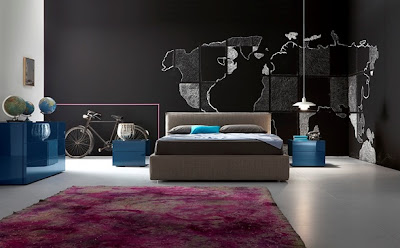 dormitorio matrimonial moderno italiano
