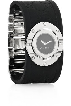 Twirl rubber and stainless steel watch