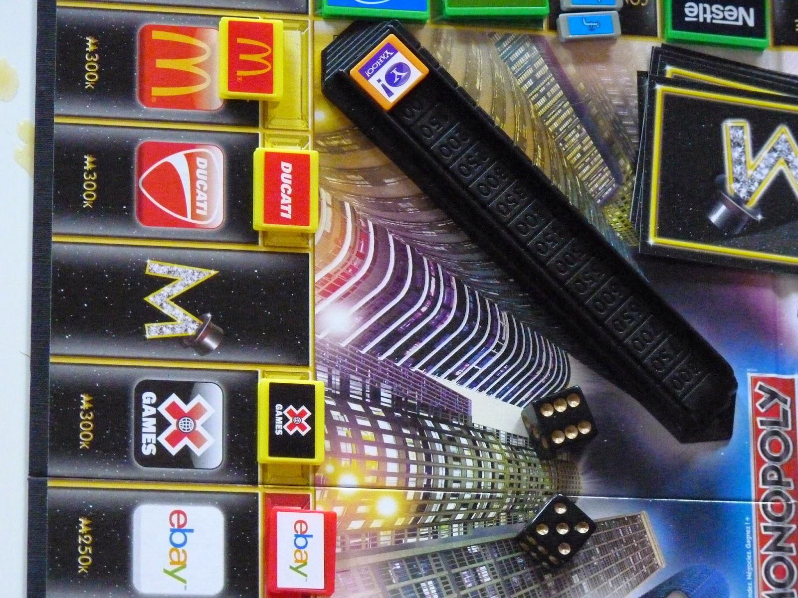 monopoly empire, jeux vidéo, jeux marque, ebay, jeux connu, s'occuper, mc donald, yahoo, ducatti, week end pluvieux, beat audio, nerf, spotify, jetblue, EA, compagnie d'electricité, hasbro, under armour, carnival, Xgames, itel, xbox, coca cola, samsung, compagnie d'eau, paramount,